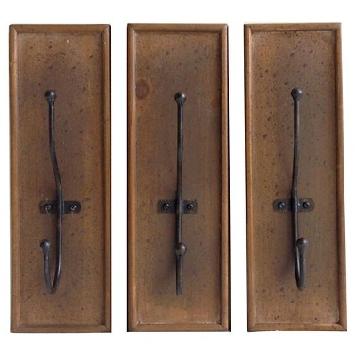 Metal Hooks Decorative Wall Art Set 4.25 X 4.25 X 8.5