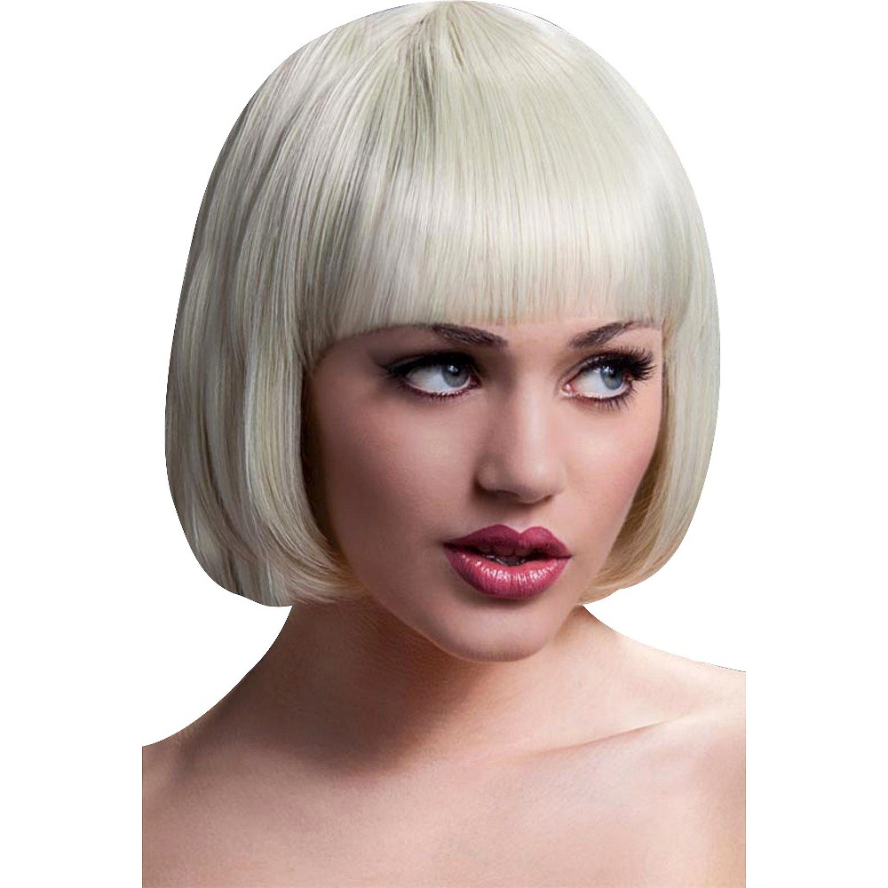 Fever Mia Short Wig With Bangs Blonde (Yellow), Womens