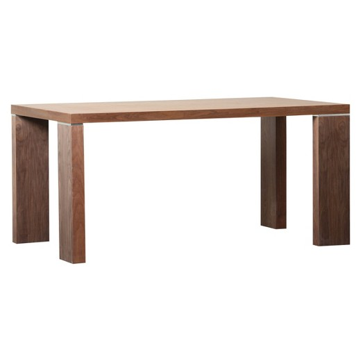 Juliet rectangle dining table wood walnut abbyson living for Wood rectangle dining table