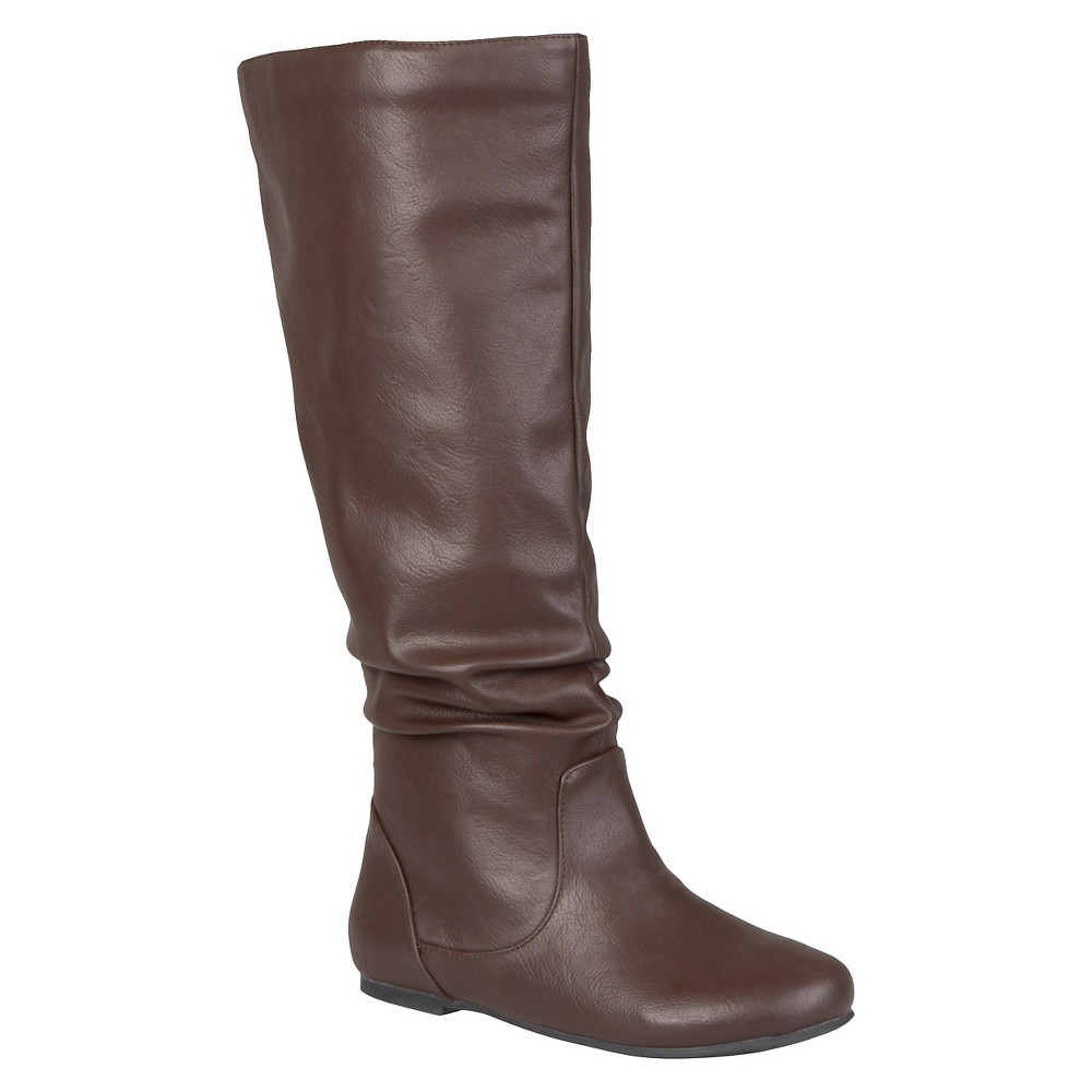 Womens Journee Collection Slouch Boots - Brown 7.5 Wide Calf