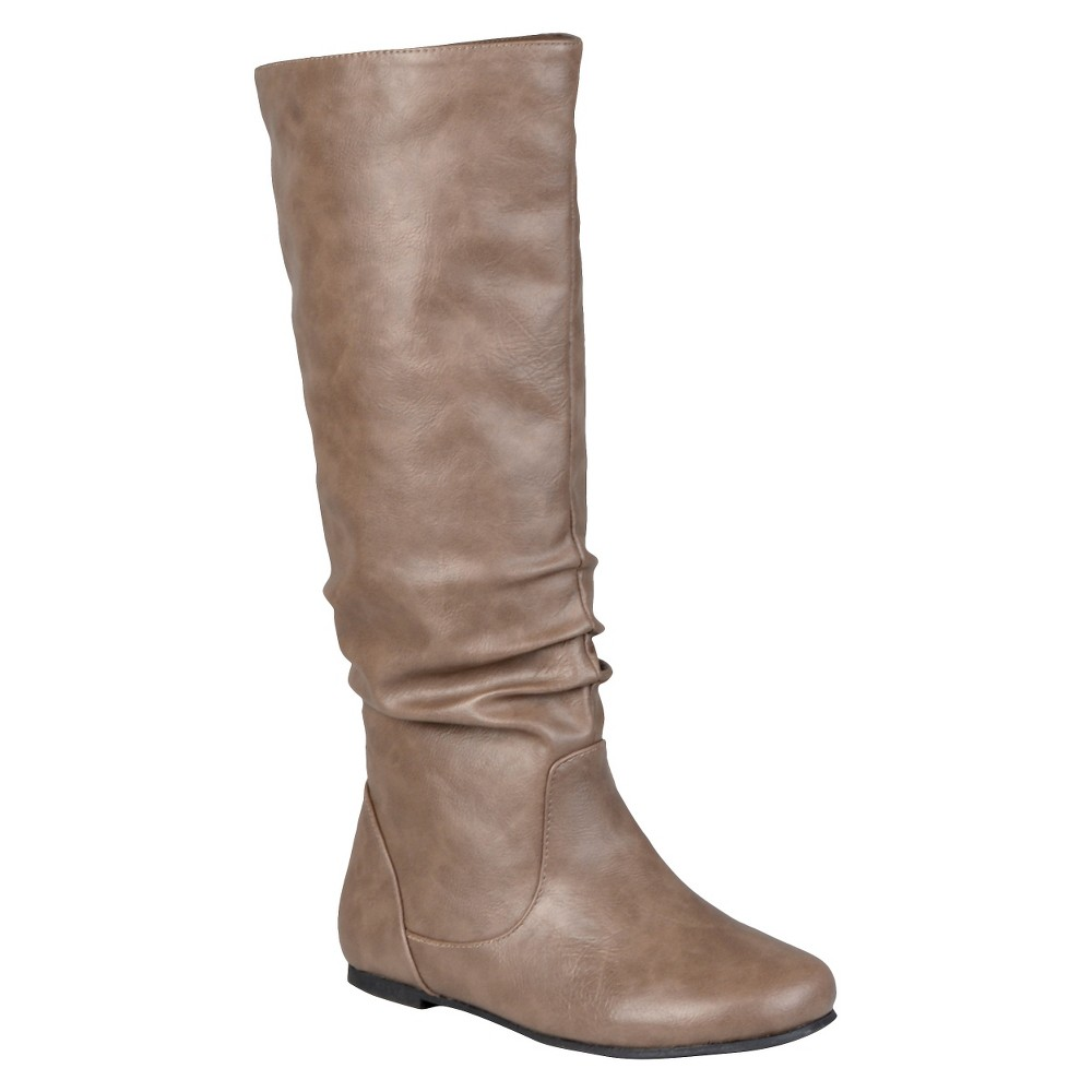 Womens Journee Collection Slouch Boots - Taupe (Brown) 9.5 Wide Calf