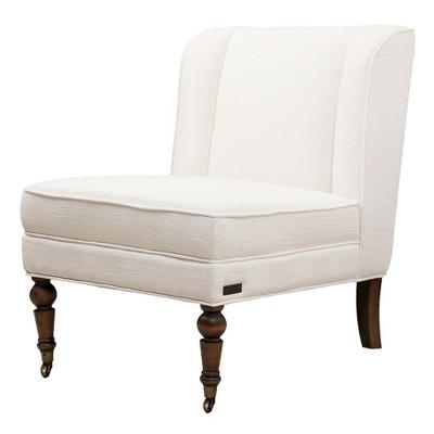 Monica Pedersen Delilah Wingback Chair Ivory   Abbyson Living