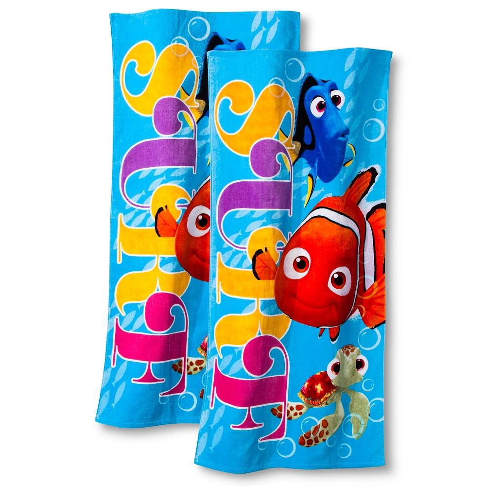 Disney 2 Pack Nemo Beach Towel - Blue