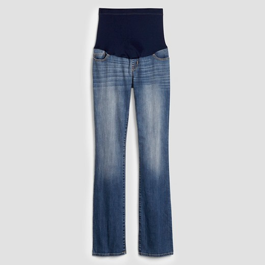 Maternity Over the Belly Medium Wash Bootcut Jeans - Liz Lange ...