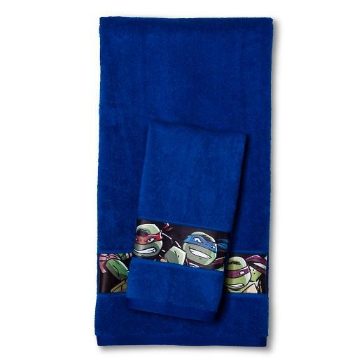 teenage mutant ninja turtles 2-pc. bath towel set - dark blue : target