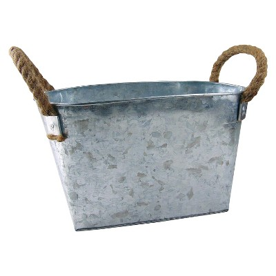 Spritz™ Pail Galvanized Large with rope 1 Ct