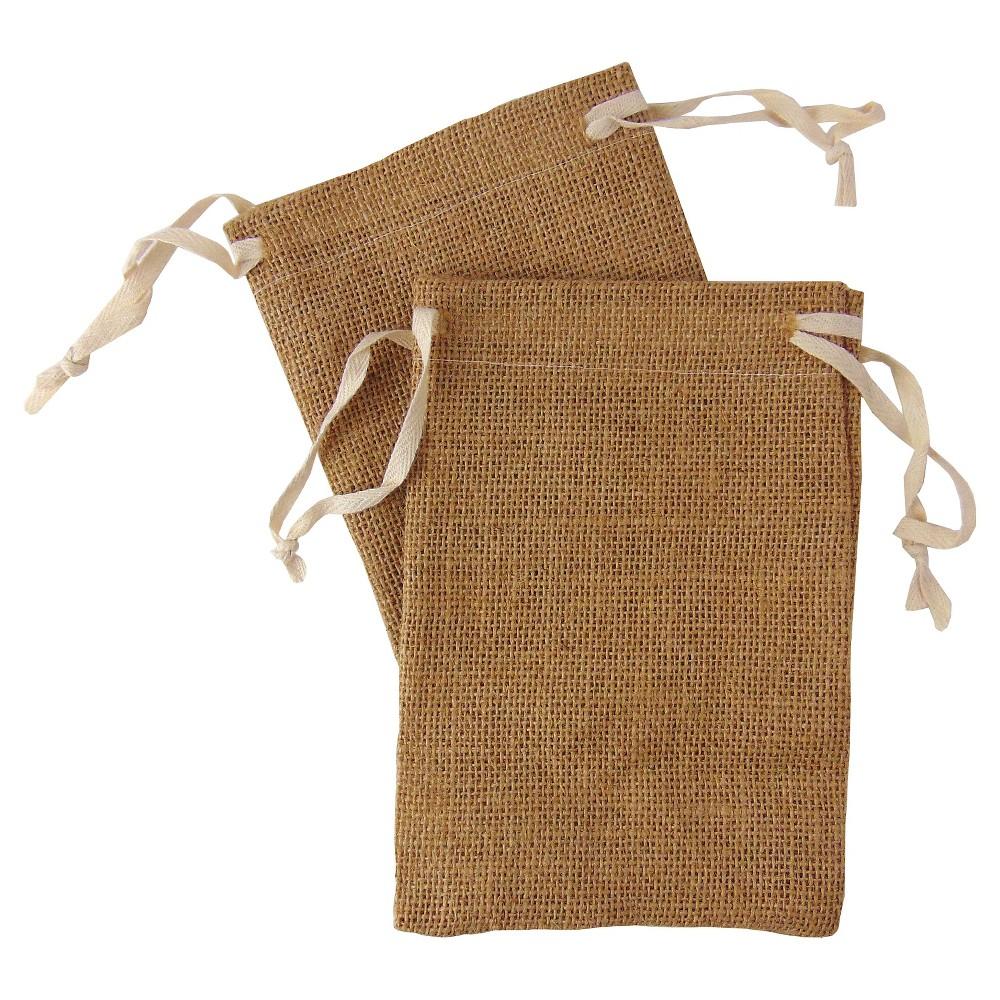 4ct Burlap Favor Bag - Spritz,  Light Brown
