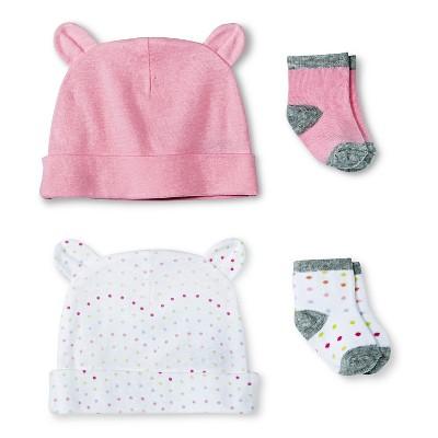 Baby Girls' Hat and Sock Set - Fun Pink- Circo™