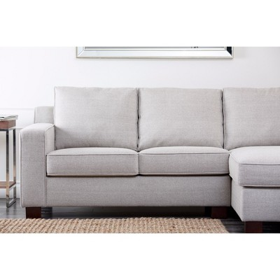 Wilton Fabric Sectional Gray   Abbyson Living