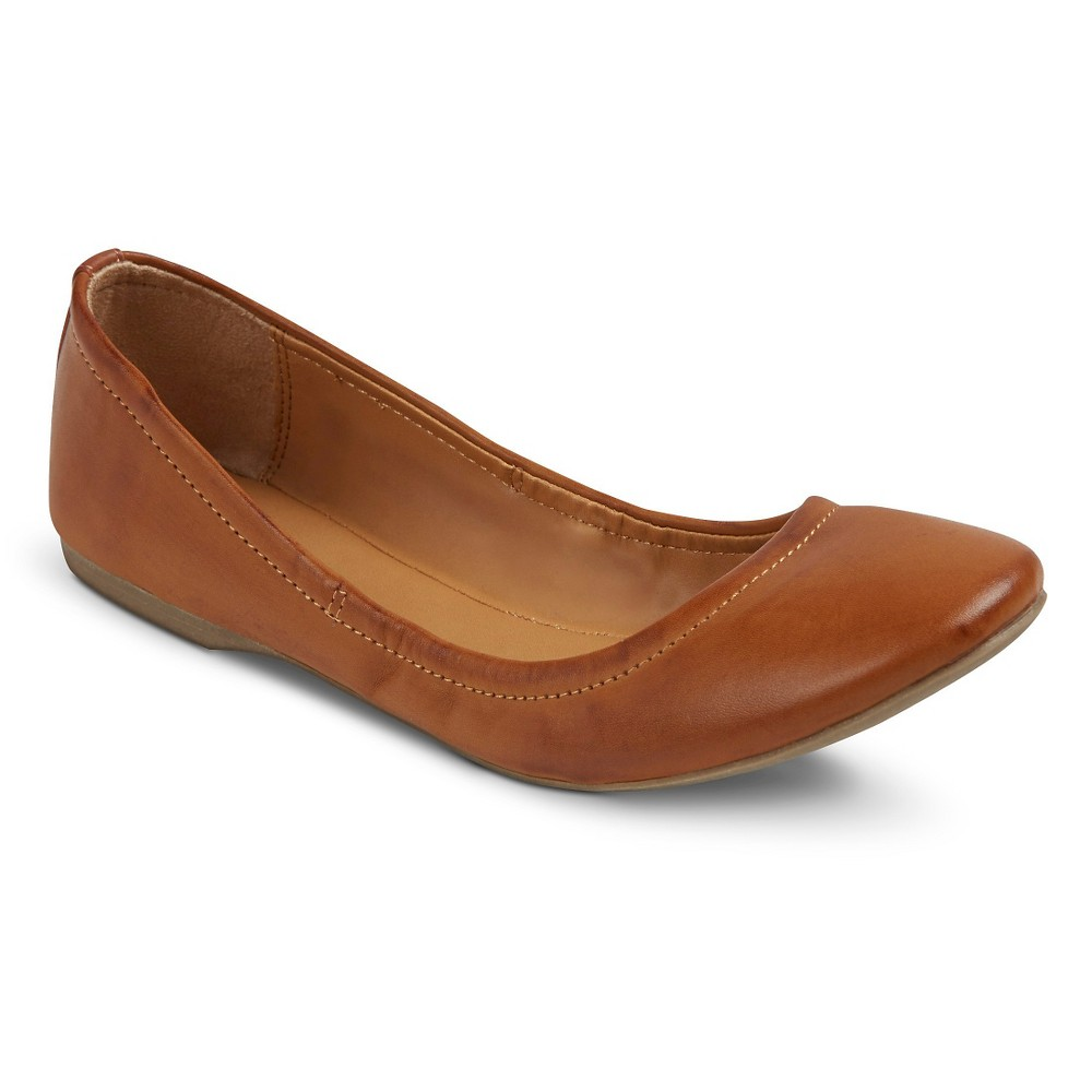 Womens Ona Scrunch Ballet Flats - Mossimo Supply Co. Cognac (Red) 6.5