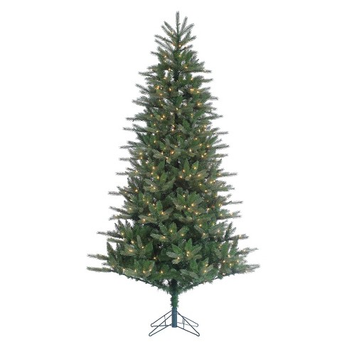 9ft Pre-Lit Artificial Christmas Tree Full Tiffany Tinsel - Clear Lights - image 1 of 1