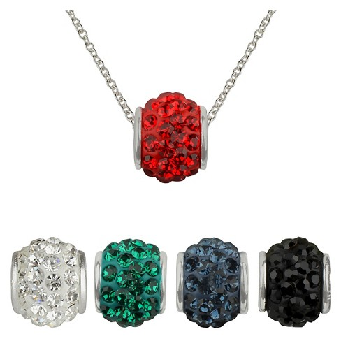 "Women's® Silver Plated Pendant Interchangeable 5 Fireball in a Box (18"") - image 1 of 1"