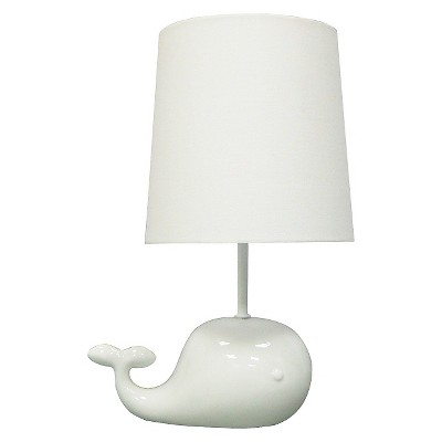 Circo™ Ceramic Table Lamp & Shade - Whale (with bulb)