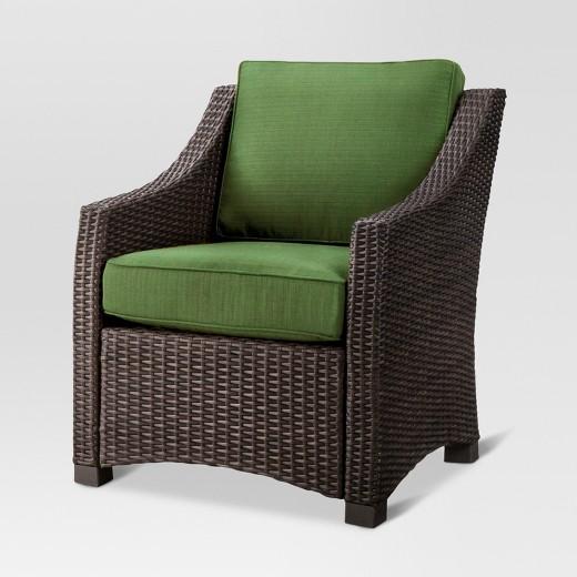 Belvedere Wicker Patio Club Chair Threshold Tar