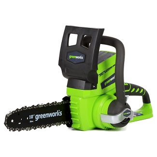 GreenWorks 24V 23.5u0022H Chainsaw Tool Only Exotic Green