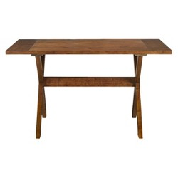 Dorel Trestle Dinning Table - Dark Pine - Dorel Living®