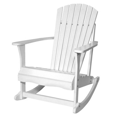 International Concepts Adirondack Rocking Chair-White