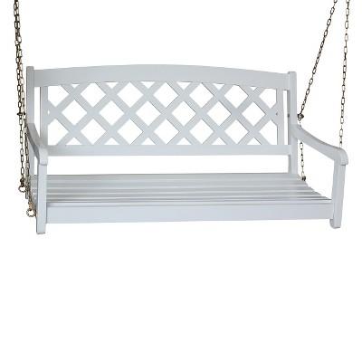 Good X Back Wood Porch Swing