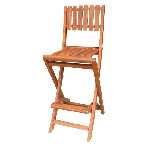 International Concepts Outdoor Slatback Folding Barstool - image 1 of 1