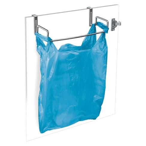 Lynk Over Cabinet Door Organizer Plastic Bag Holder Chrome Target