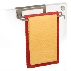 Lynk Over Cabinet Door Pivoting Towel Bar - Satin Nickel