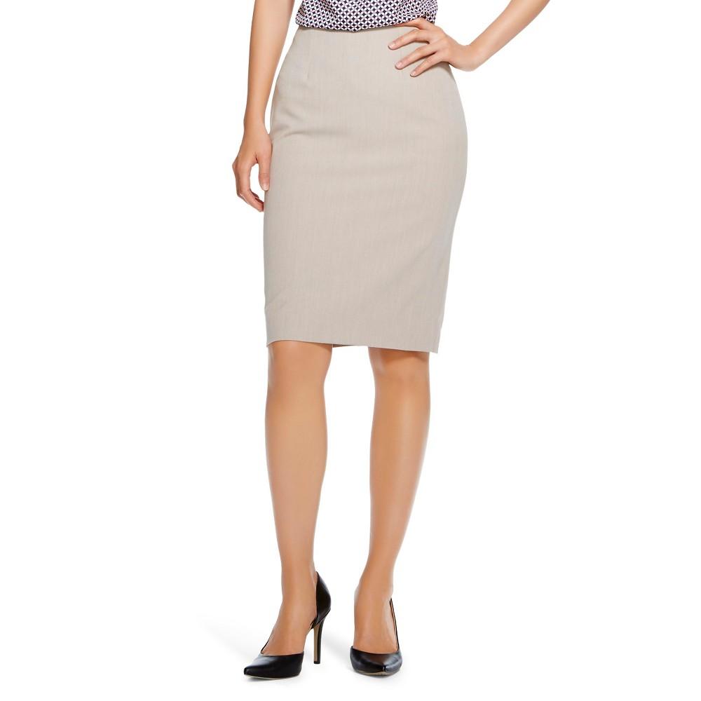 Womens Bi-Stretch Twill Pencil Skirt Vintage Khaki 4 - Merona