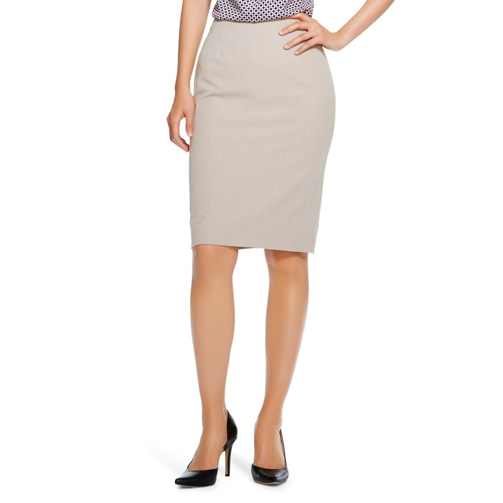 Women's Bi-Stretch Twill Pencil Skirt Vintage Khaki 2 - Merona plus size,  plus size fashion plus size appare