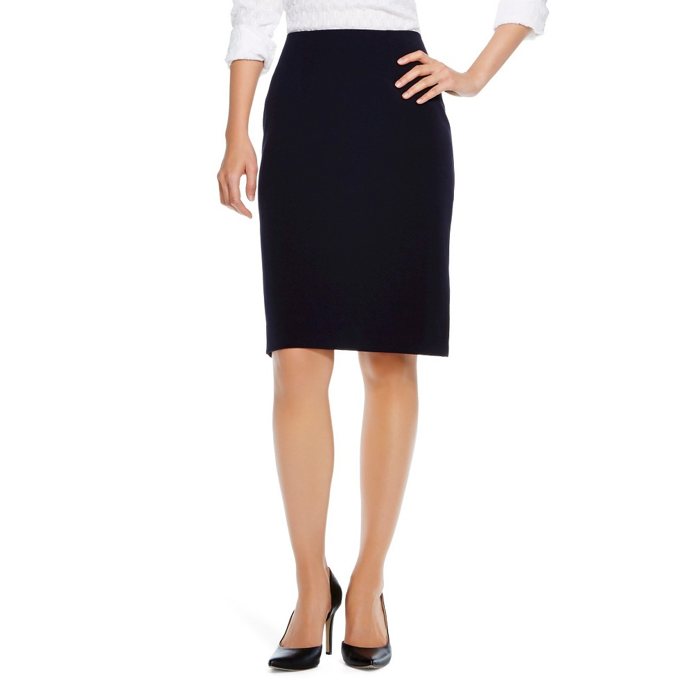 Womens Bi-Stretch Twill Pencil Skirt Federal Blue 10 - Merona