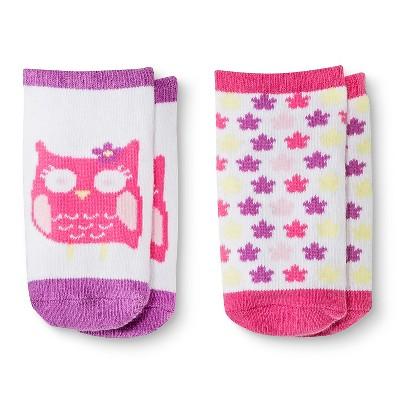 Baby Girls' Low-Cut Owl Socks 2 pk Circo™ - Pink 0-6 M