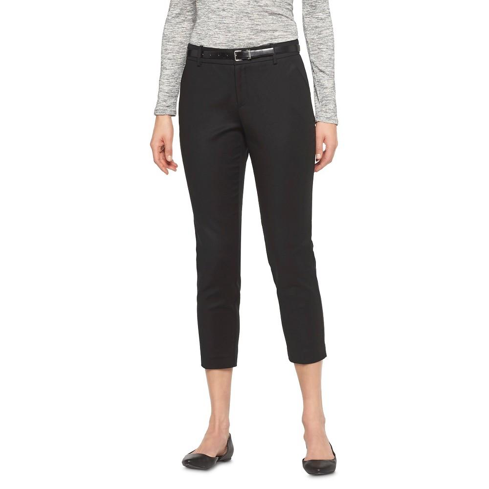 Womens Classic Ankle Pants Curvy Fit Black 6 - Merona
