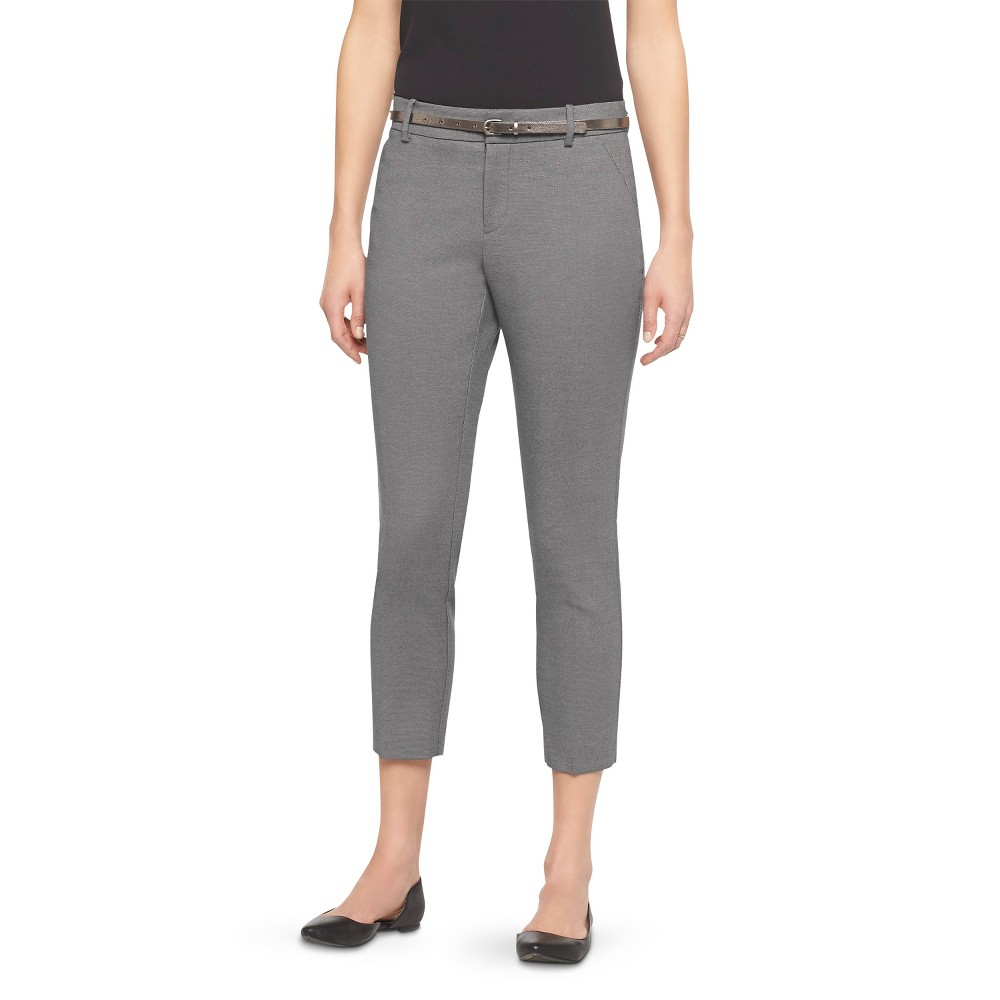 Womens Classic Ankle Pants Curvy Fit Heather Gray 14 - Merona