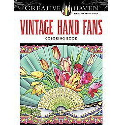 Vintage Hand Fans Adult Coloring Book