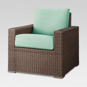 Heatherstone Wicker Patio Club Chair Seafoam - Threshold
