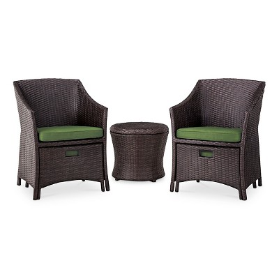 Loft 5 Piece Wicker Patio Conversation Furniture Set   Threshold™