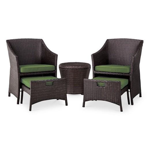 loved. Loft 5 Piece Wicker Patio Conversation Furniture Set   Threshold