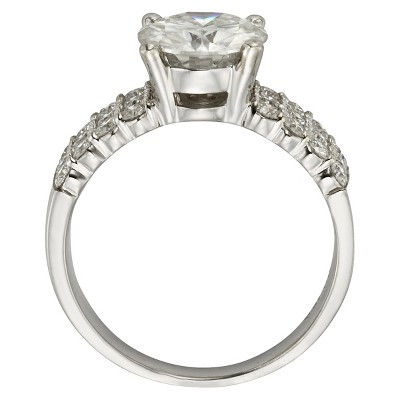 2.92 CT. T.W. Round Forever Brilliant Moissanite Engagement Prong Set Ring in 14K White Gold (8), Women's