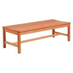 Vifah 5 Foot Backless Outdoor Wood Bench - Brown