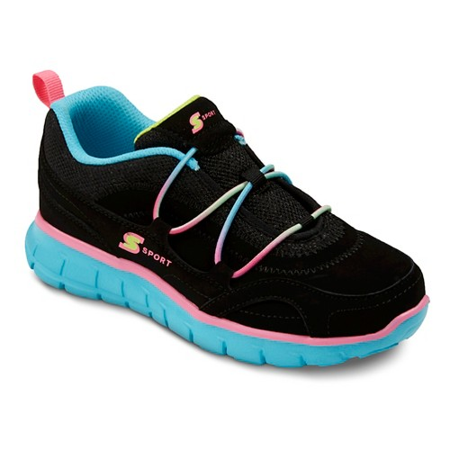 S Sprt Performance Athletic Shoes Bg Bnge Kaleidscpe Blk 3, Girl's, Variation Parent