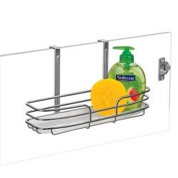 Lynk Over Cabinet Door Organizer - Single Shelf - w/Molded Tray - Chrome