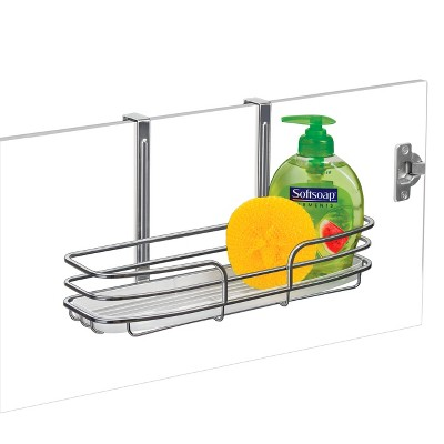 Lynk Over Cabinet Door Organizer   Single Shelf   W/Molded Tray   Chrome