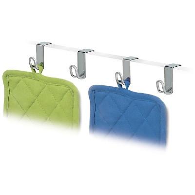 Lynk Over Cabinet Door Hooks (set of 4)- Chrome