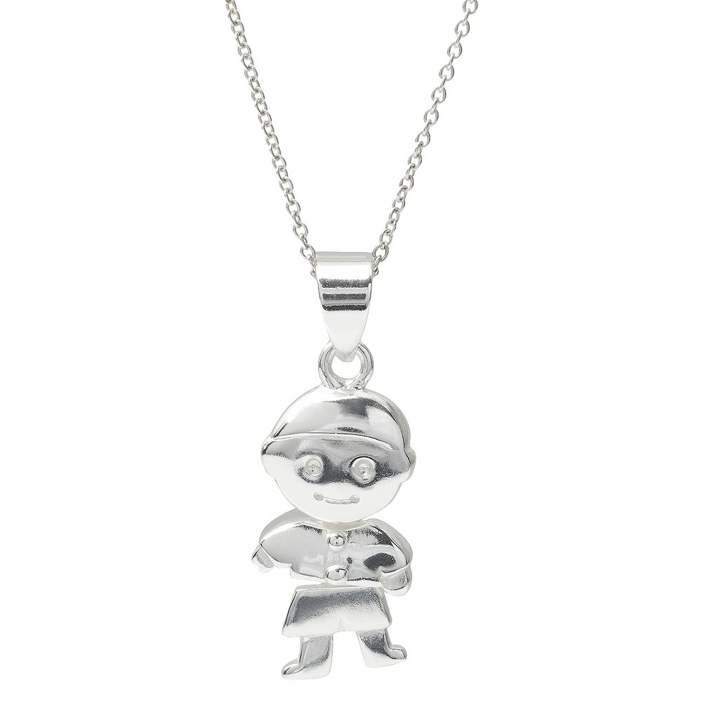 Womens Tressa Collection Sterling Silver Boy Pendant (18)