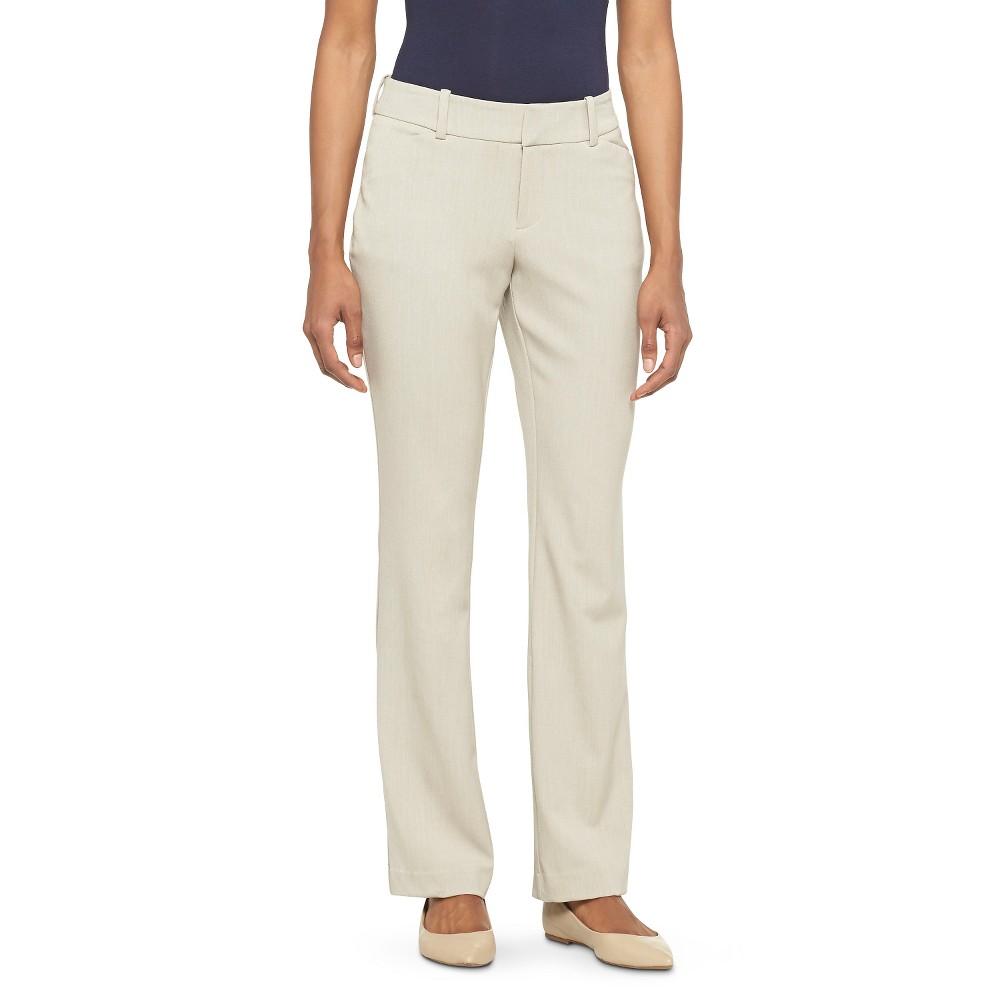 Women's Bi-Stretch Twill Barely Boot Modern Pants Curvy Fit Vintage Khaki 2 Long - Merona plus size,  plus size fashion plus size appare