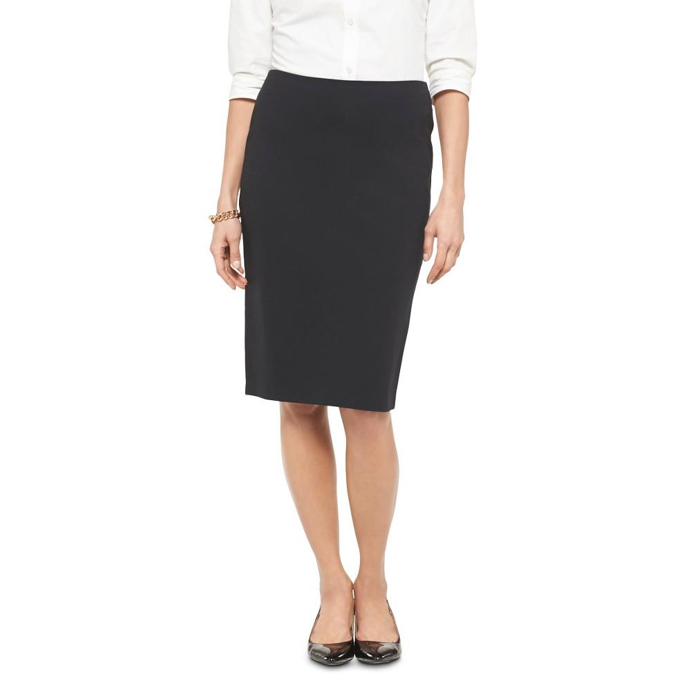 Womens Ponte Pencil Skirt Black 6 - Merona