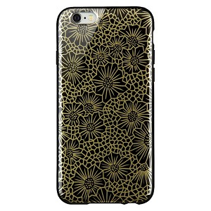 iPhone 6/6S Case - Dana Tanamachi - Black/Gold Floral (F8W592ttC00), Multi-Colored