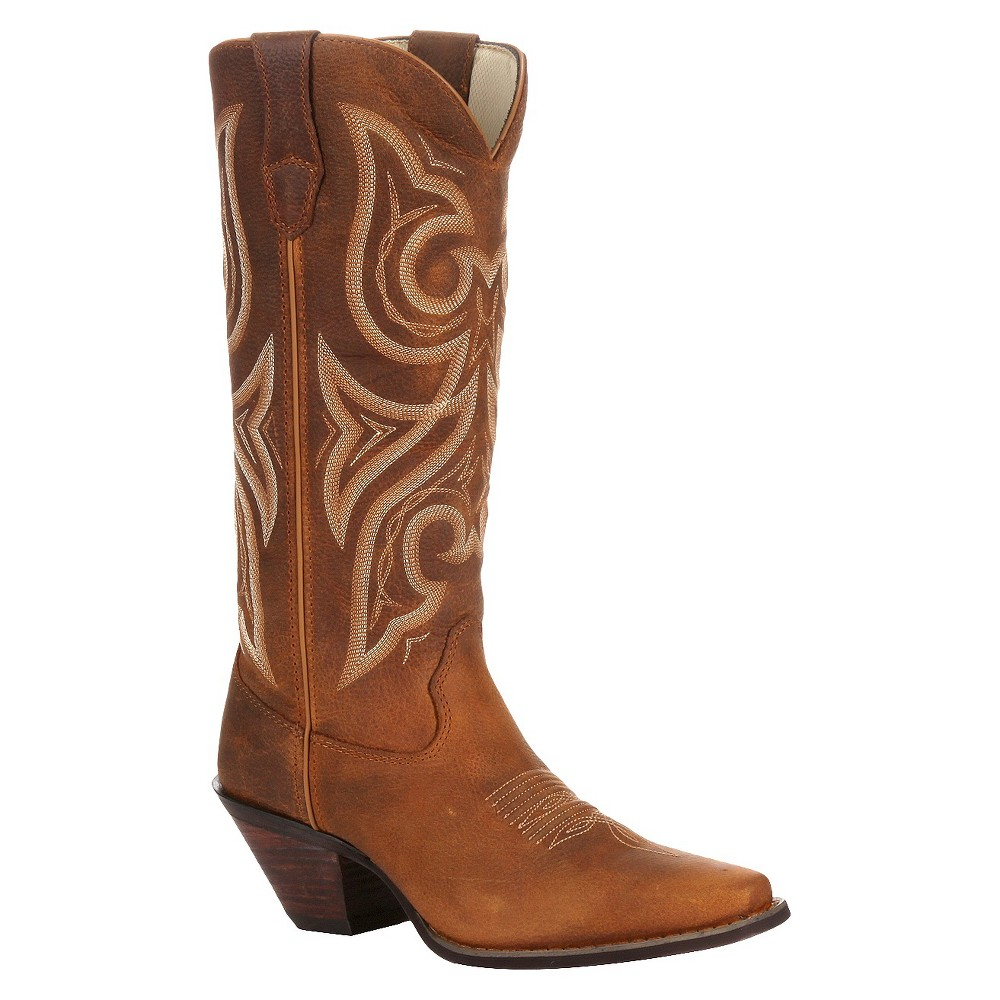Womens Durango Jealousy Crush Boots - Desert Tan 9M, Size: 9, Brown