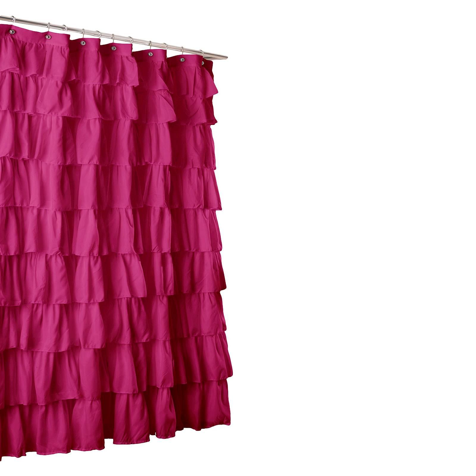 Lush D Cor Large Ruffle Shower Curtain Curtain Menzilperde Net