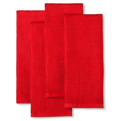Ripe Red Microfiber Kitchen Towel (4 Pk)- Room Essentials™