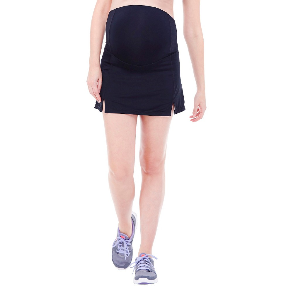 BeMaternity by Ingrid & Isabel Active Skirt with Crossover Panel L, Women's, Black