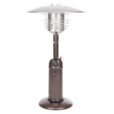 Fire Sense Hammer Tone Bronze Finish Table Top Patio Heater